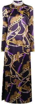 Alessandra Rich long silk dress