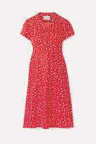 HVN Morgan Printed Silk Crepe De Chine Dress - Red