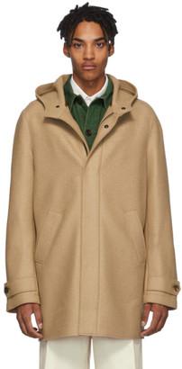 Harris Wharf London Tan Virgin Wool Long Parka Coat