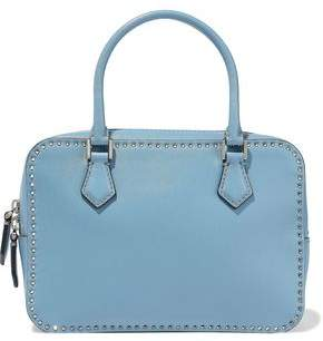 Valentino Garavani Stud Stitching Leather Shoulder Bag