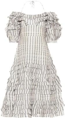 Zimmermann Painted Heart Folds linen and silk dress