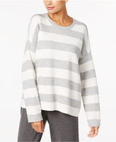 Eileen Fisher Organic Cotton- Cashmere Blend Reversible Crew-Neck Sweater, Regular & Petite