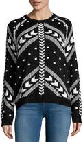 John & Jenn John + Jenn Women's Arrow Crewneck Sweater - Black-white, Size m