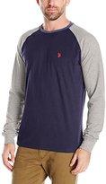U.S. Polo Assn. Men's Raglan Long Sleeve Crew Neck Baseball T-Shirt