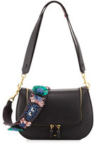 Anya Hindmarch Vere Space InvaderTM Floral Satchel Bag, Black