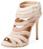Giuseppe Zanotti Multi Strap Leather High Heel Sandal