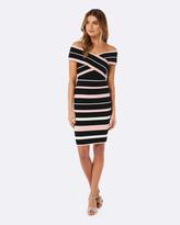 Forever New Kathleen Stripe Bardot Dress