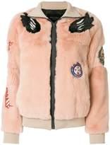 Mr & Mrs Italy fur detail jacket