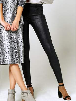 M&Co Glitter dogtooth jeans