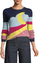Moschino Moon-Print Pullover Sweater
