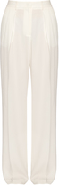 MSGM Pleated wide-leg crepe trousers