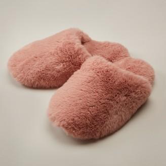 Love & Lore Faux Fur Slipper Rose Medium-Large