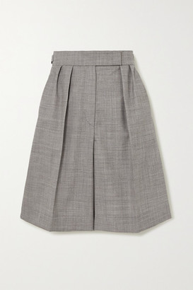 Max Mara Ondina Wool-blend Shorts - Black