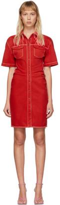 Off-White Red Denim Dress