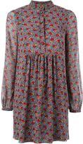 Saint Laurent floral Georgette dress - women - Silk - 38