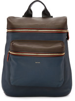 Paul Smith Navy and Brown Backpack