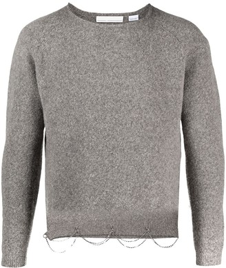 Random Identities Crystal-Embellished Wool Jumper