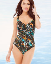 Soma Intimates Java Jumble Razer One Piece Swimsuit