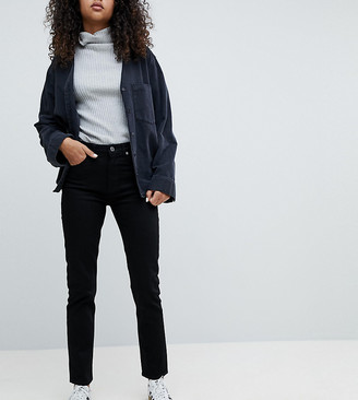 Weekday Seattle high waist mom jeans with organic cotton in black