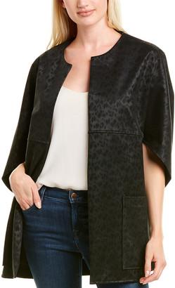 Josie Natori Leopard Printed Jacket