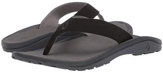 OluKai 'Ohana Ho'okahi (Black/Charcoal) Men's Sandals