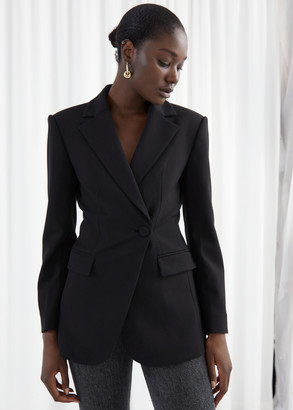 And other stories Asymmetric Structured Single Breasted Blazer