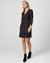 Le Château Check Print Ponte Knit Blazer Dress