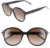 Jimmy Choo Women's 55Mm Oversized Sunglasses - Black