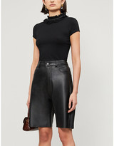 Ted Baker Orwla frill-neck stretch-jersey top