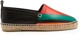Loewe Striped leather espadrilles