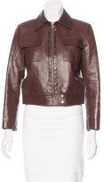 Michael Kors Zip-Up Leather Jacket