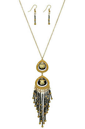 mimis Mimi's Gift Gallery Gold/hematite Necklace Set
