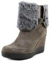 Dune London Pluff Women Round Toe Suede Bootie.