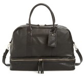 Sole Society 'Mason' Faux Leather Weekend Bag - Black