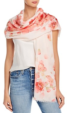 Fraas Cherry Blossom Cotton Scarf