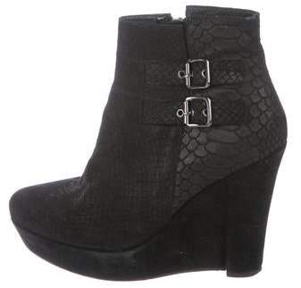 The Kooples Suede Wedge Ankle Boots