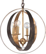 Crystorama Luna Sphere Chandelier, Gold/Bronze