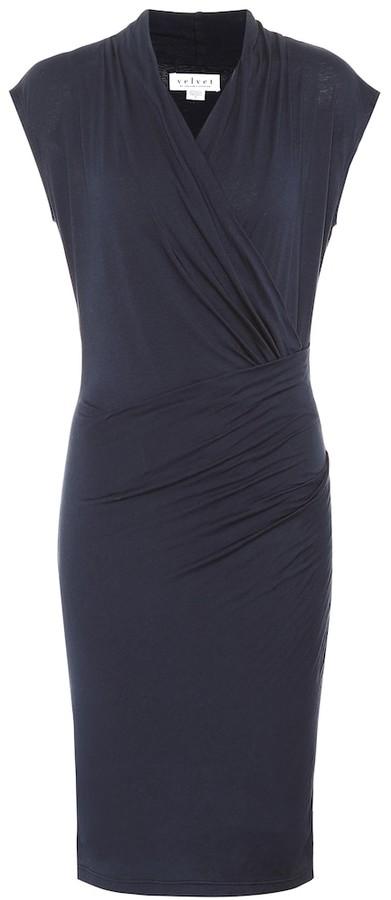 Velvet Omega stretch cotton dress