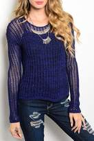 Adore Clothes & More Navy Sweater