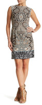 Sandra Darren Printed Scuba Sheath Dress (Petite)