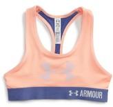 Under Armour Girl's Heatgear Graphic Sports Bra