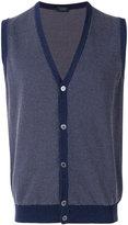 Zanone sleeveless cardigan - men - Cotton - 48