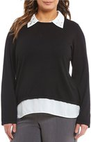 Investments Plus Long Sleeve Layered Sweater