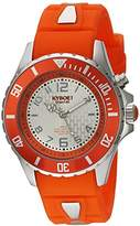 KYBOE! 'Power' Quartz Stainless Steel and Silicone Casual Watch, Color:Orange (Model: KY.40-045.15)