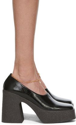 Stella McCartney Black Patent Block Heels