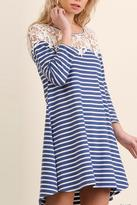 Umgee USA Crochet Stripe Dress