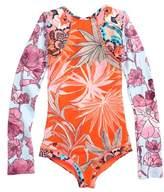 Maaji Girl's Surfie One-Piece Rashguard Swimsuit