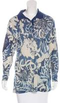 Gianfranco Ferre Printed Polo Top
