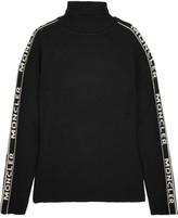 Moncler Intarsia Wool Turtleneck Sweater - Black