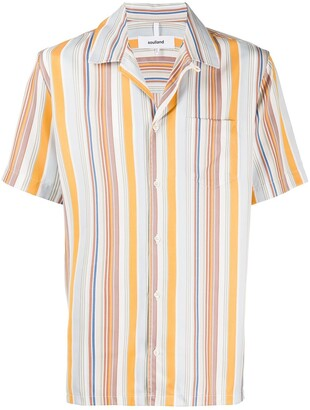 Soulland Ryan striped-print shirt